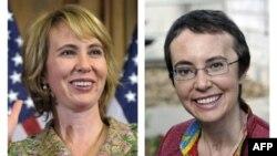 Nữ Dân biểu Gabrielle Giffords trước và sau khi bị bắn