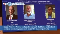 VOA60 Addunyaa - Three Share Nobel Prize for Physics for Work on Climate Change