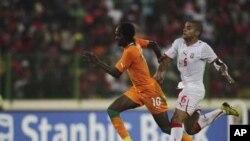 Gervinho lors de la CAN 2012, Malabo, 2012