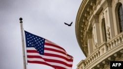 An American flag flies at the U.S. Capitol in Washington, Oct. 30, 2019.