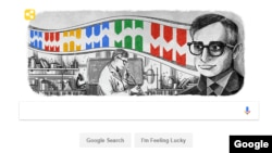 Screenshot of Google's Doodle of Indian American biochemist Har Gobind Khorana