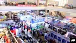 Hội chợ Thương mại Quốc tế mùa Xuân ở Bình Nhưỡng vào ngày 22/5/2017.