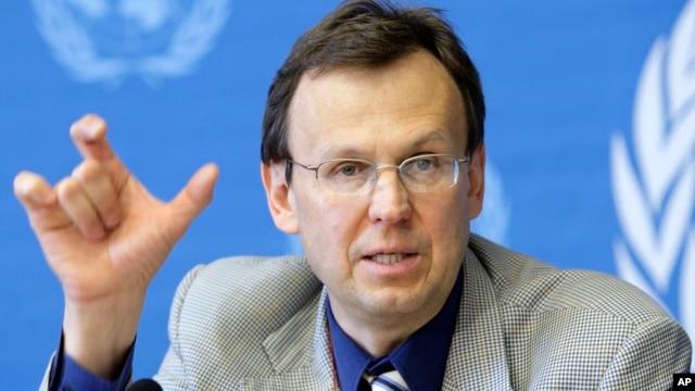FILE - Director of WHOs Global TB Program, Mario Raviglione.