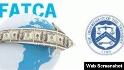 """""""外國賬戶稅收遵從法""""(FATCA)標誌。"""