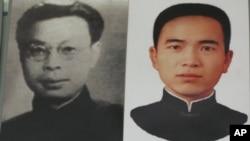 中共谍报员涂作潮(右)和李白