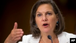 FILE - Assistant Secretary of State Victoria Nuland in Washington.