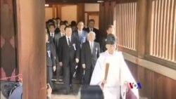 日本跨黨派議員集體參拜靖國神社