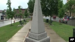 Statues on Watertown, New York's town square speak of honor, country, and wars fought in the past