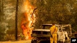 Požar u Redingu, u Kaliforniji