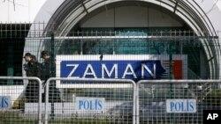 Trụ sở tờ báo Zaman bị rào lại ở thành phố Istanbul, ngày 6 tháng 3, 2016