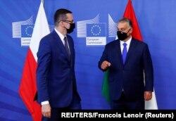 Polonya Başbakanı Mateusz Morawiecki ve Macaristan Başbakanı Viktor Orban