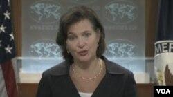 国务院发言人努兰(美国之音视频截图)