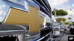 آرم شورلت که توسط شرکت جنرال موتورز تولید می شود.