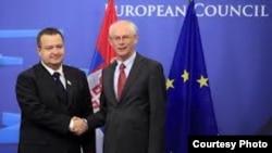 Herman van Rompuy dhe Ivica Daçiç