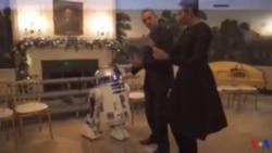 Le couple Obama danse avec des robots pour célébrer la Journée Star Wars