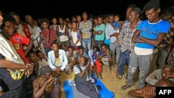 Ethiopian refugees who fled fighting in Tigray province are pictured at the Um Rakuba camp in Sudan's eastern Gedaref province, Nov. 19, 2020.