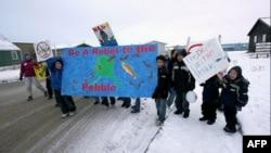 Дети инуитов против шахты Пеббл