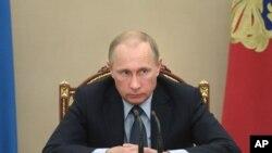 Ông Putin trong cuộc họp nội các tại điện Kremlin.