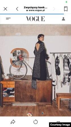 Akila became a model, published in the Polish Vogue magazine.  (photo: courtesy)