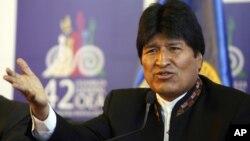 El presidente boliviano, Evo Morales, es de los que apoya la desaparición del sistema interamericano de derechos humanos.