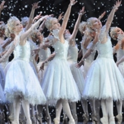 "Dancers from Britain's Royal Ballet rehearse for ""Nutcracker"" performances in 2008"