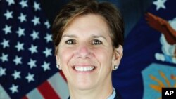 This undated U.S. Air Force photo shows Gen. Lori Robinson, the new commander of the North American Aerospace Defense Command (NORAD), and U.S. Northern Command at Peterson Air Force Base, Colo.
