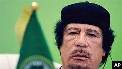 ທ່ານ Moammar Gadhafi ຜູ້ນໍາລີເບຍ.
