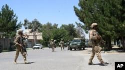 阿富汗安全部隊奪回了與阿富汗赫爾曼德省的拉什卡爾加市的控制權(資料照片)。