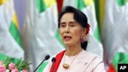Jagorar kasar Myanmar Aung San Suu Kyi