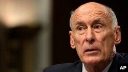 댄 코츠 미국 국가정보국장이 3일 상원 청문회에서 증언하고 있다.