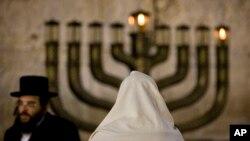 예루살렘 옛도시 서벽에서 열린 유대교 행사. (자료사진)
