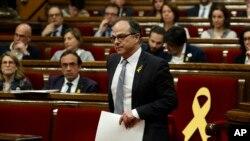 Jordi Turull, portavoz del anterior gobierno separatista catalán de Carles Puigdemond, está encausado por rebelión, sedición y malversación junto con otros dirigentes de la cúpula independentista por el intento de secesión unilateral en 2017.