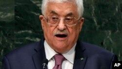 Le président de l'Autorité palestinienne fait un discours au cours de la 69ème session de l'Assemblée nationale des Nations Unies vendredi le 26 septembre 2014.