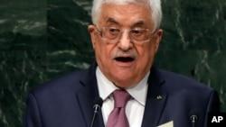 Tổng thống Palestine Mahmoud Abbas phát biểu tại phiên họp thứ 69 của Đại hội đồng Liên Hiệp Quốc, 26/9/2014.