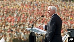 Former Defense Secretary Robert Gates speaking to Boy Scouts in 2010.