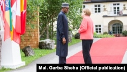 Shugaban Najeriya Muhammadu Buhari, da Angela Markel shugabar gwamnatin Jamus.