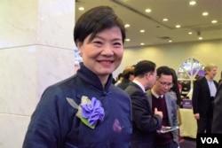 香港公民黨主席余若薇。(美國之音湯惠芸攝)