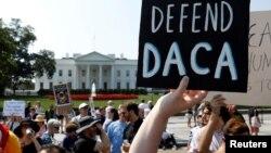 Manifestation pro-immigration devant la Maison Blanche le 5 septembre.