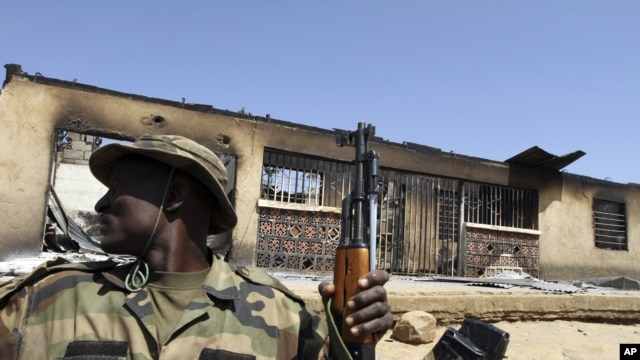 Sojojin Najeriya masu yin sintiri a Maiduguri, Jihar Borno