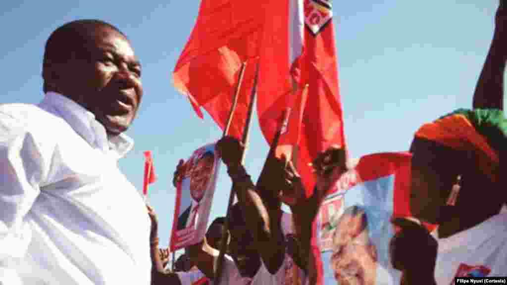 Candidato presidencial da FRELIMO, Filipe Nyusi (Ancuane, Cabo Delgado)