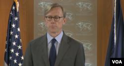 美国国务院政策规划主任胡克在国务院特别吹风会上(2018年1月11日)