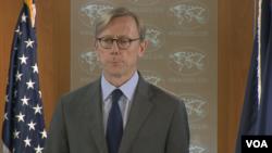 برایان هوک، از مدیران ارشد وزارت خاجه آمریکا، سرپرستی هیات اعزامی آمریکا در هشتمین نشست کمیسیون مشترک برجام را بر عهده داشت.