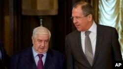 Валід аль-Моаллем і Сергій Лавров у Москві 25 лютого