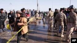 시아파 순례자들을 겨냥한 자살폭탄공격이 일어난 바스라시