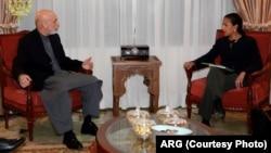 Presiden Afghanistan Hamid Karzai dan penasihat keamanan nasional AS Susan Rice di Kabul (25/11).