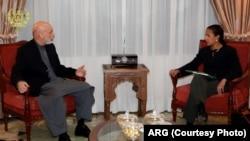 Hamid Karzai ve ABD Ulusal Güvenlik Danışmanı Susan Rice Kabil'de görüşürken