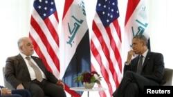 伊拉克總理阿巴迪星期一與美國總統奧巴馬舉行會談,討論打擊伊斯蘭國激進分子的問題。