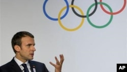 El presidente de Francia, Emmanuel Macron, defendió que París sea anfitriona de los Juegos Olímpicos de 2024.