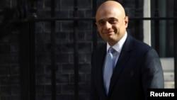 Britain's Home Secretary Sajid Javid arrives in Downing Street in London, May 1, 2018.