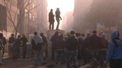 درگیری تظاهرکنندگان با پلیس در قاهره